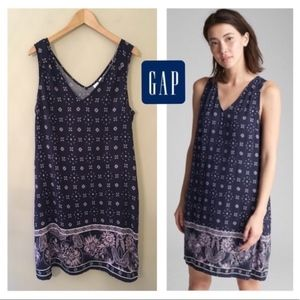 GAP - Blue Floral Sleeveless Dress (size XS)